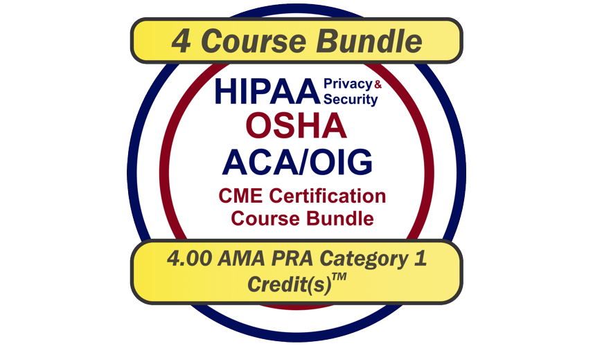 EPICourses HIPAA - OSHA - ACA-OIG CME Bundle Logo - Medium